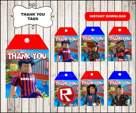 Roblox Packages Download - Roblox Thank You Tags Instant Download Roblox Thank You Tags Printable Roblox Tags