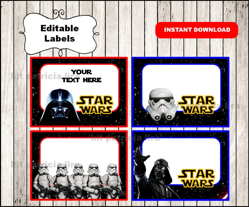 photograph relating to Star Wars Printable Cards known as Darth Vader Star Wars Printable Playing cards, tags, reserve labels, stickers, youngsters playing cards, reward tags, labeling, sbooking EDITABLE Immediate Obtain