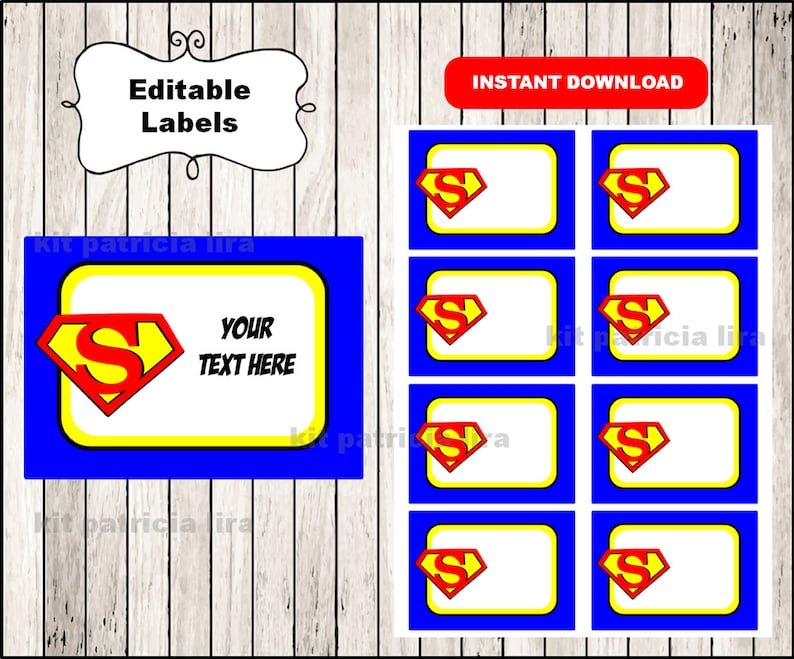 photograph about Superman Logo Printable named Superman emblem Printable Playing cards, tags, ebook labels, stickers, little ones playing cards, reward tags, labeling, sbooking EDITABLE Immediate Down load