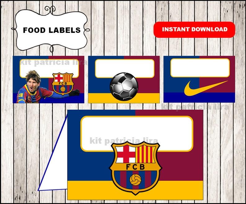 fc barcelona food labels instant download fc barcelona food etsy etsy