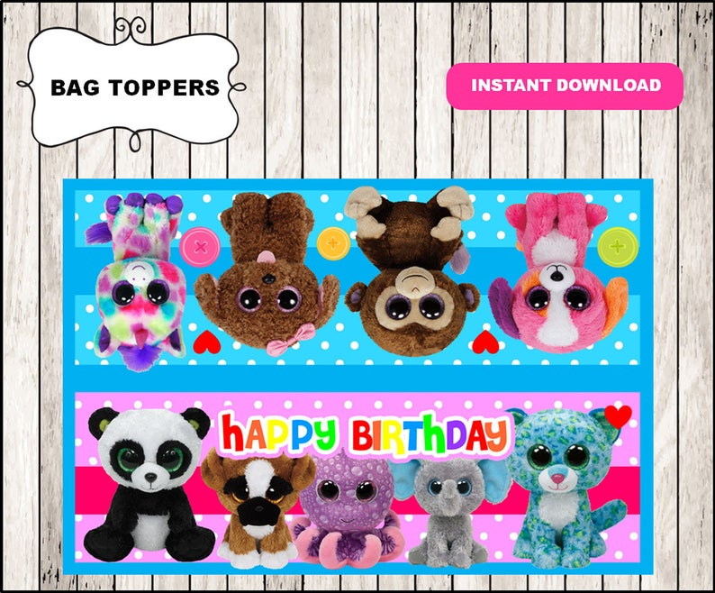 Beanie Boo Toppers instant download 1864121d672