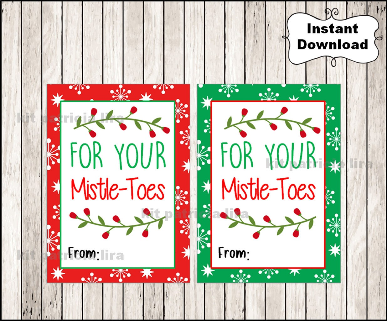 foto de For Your Mistletoes Gift Tags Printable Mistletoes tags