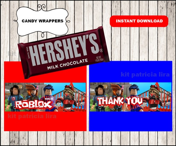 Roblox Candy Wrappers Printable Roblox Wrappers Roblox Party Candy Wrappers Instant Download - give me candy sweater roblox