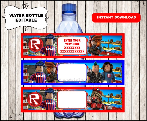 Roblox Water Labels Instant Download Printable Roblox Water Etsy