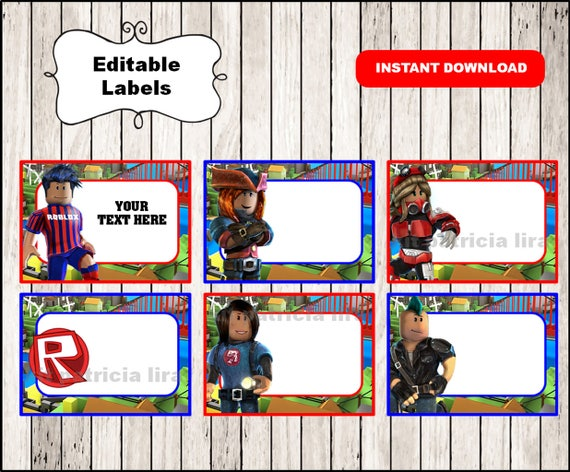 Roblox Printable Cards Tags Book Labels Stickers Kids Etsy
