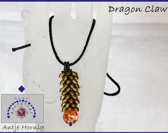Dragon Claw, Kit, Pendant, Instructions and beads