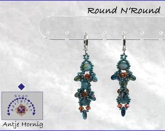 Round N'Round, Instructions, Earrings, Pattern, PDF - Download, GERMAN