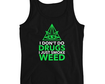 Adult Mens Just Hit It 420 Funny Smoking Sleeveless Muscle Shirt