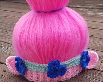 Crochet Princess Poppy Hat Inspired by the Movie Trolls - Poppy troll Costume