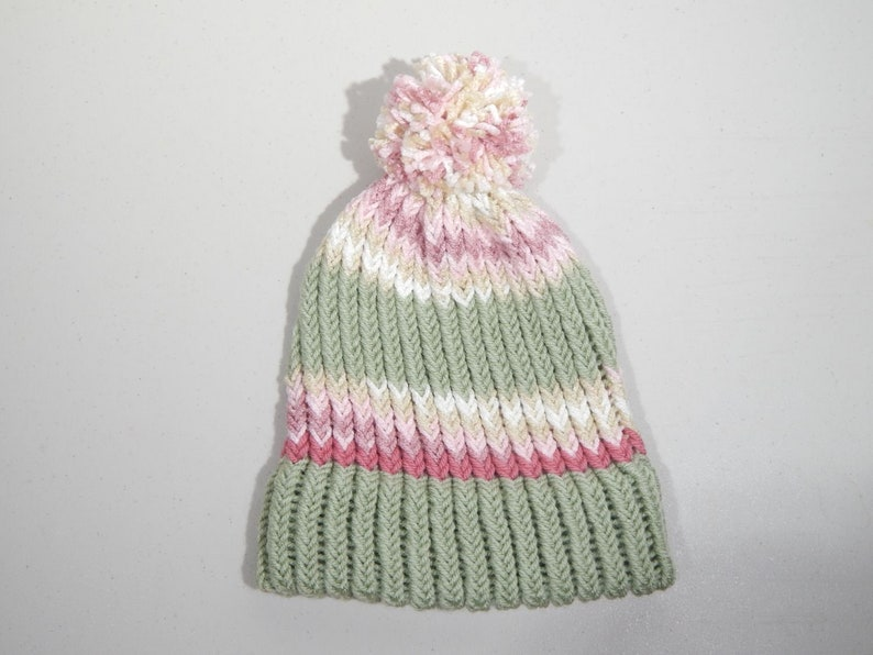 80305621ecc Toddler   Child Handmade ACRYLIC Knit Winter Ski Hat Cap