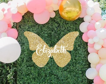 7x7FT Vinyl Wall Photography Backdrop,Nature,Butterflies Spiritual Wings Background for Baby Birthday Party Wedding Studio Props Photography