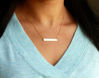 Personalized Bar Necklace | Custom Name Necklace | Kids Initials Bar Necklace | Name Bar Necklace | Kids Initials Bar, Mother's Day Gift