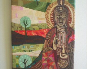 Quan Yin Original Small Painting Acrylics on Canvas