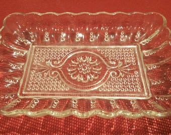 Pretty Vintage Cut Glass Dish