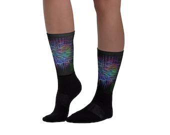 Binary Color Blast Socks