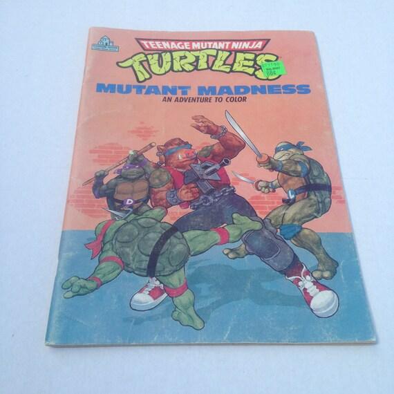 TMNT vintage para colorear libro 1988 Teenage Mutant Ninja