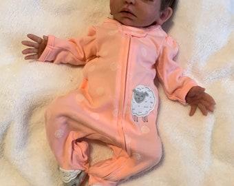 ITS A GIRL REBORN DOLL Mottled Baby Shower Ethnic Childs Birthday Xmas Gift