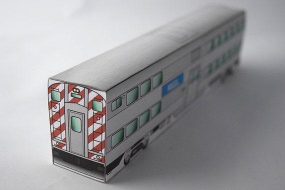 Metro Cab Car Model Kit Paper Craft Train Chicago Illinois Etsy