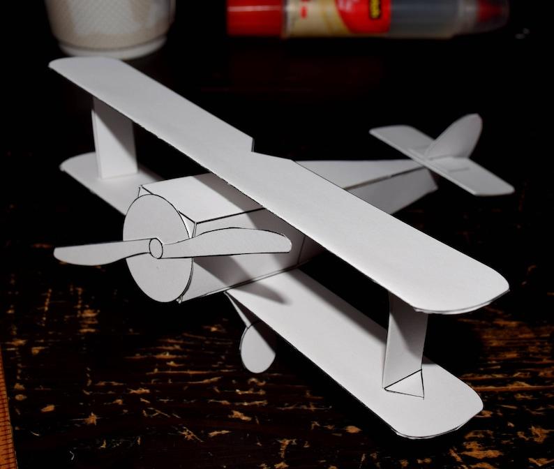 Da Colorare Biplano Set Papercraft 3d Modello Pagine Etsy