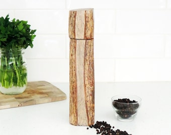 Wood Pepper Mill - Peppermill, salt grinder - Kitchen gift - Salt and pepper mill - mother's day gift- gift for him - PM013