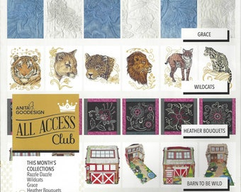 Anita Goodesign, All Access - June 2016 Issue, Machine Embroidery Designs, All Access June 2016