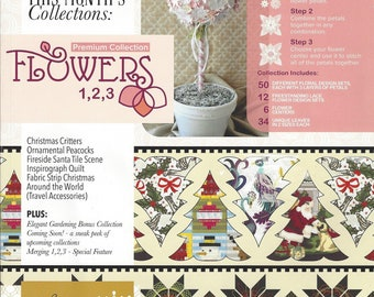 Anita Goodesign, All Access - July 2016 Issue with Flowers 1-2-3 Premium Collection, Machine Embroidery Designs, All Access July 2016