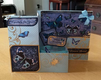 3D Pop Up Z-Fold Butterflies Birthday Card - luxury personalised quality bespoke UK Mum/Daughter/Aunt/Niece/Grandma/Sister