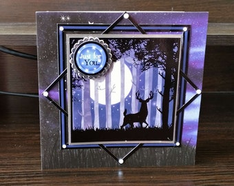 Male/Female Birthday Card - Stag/Trees - luxury unique quality special bespoke UK - Mum/Grandma/Daughter/Aunt/Niece/Sister/Wife