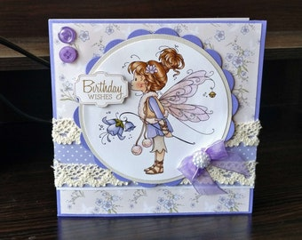 Female Birthday Card - Fairy - luxury unique quality special bespoke UK - Mum/Grandma/Daughter/Aunt/Niece/Sister/Wife