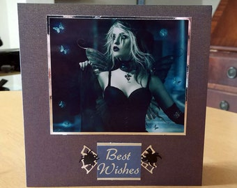Gothic Birthday Card - luxury unique quality special vampire twilight fantasy UK - male/female
