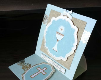 Holy Communion - 3D Easel Style -  luxury unique quality special custom UK - Male/Female