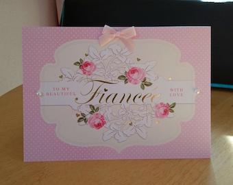 Luxury birthday card etsy fiancee birthday card luxury quality bespoke uk handmade m4hsunfo
