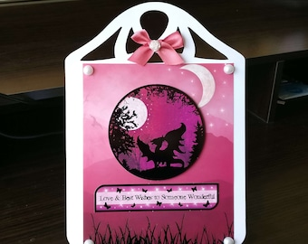 Female Birthday Card 3D Easel with a Dragon/Fantasy   - luxury unique custom UK - Mum/Grandma/Daughter/Aunt/Niece/Sister/Wife