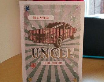 Uncle Birthday Card - luxury quality bespoke UK handmade