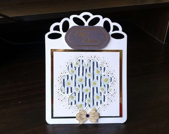 Female Birthday Card 3D Easel with Daisies - luxury unique custom UK - Mum/Grandma/Daughter/Aunt/Niece/Sister/Wife