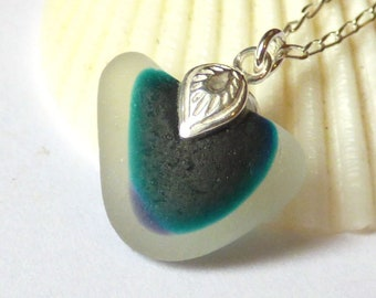 Sea Glass Pendant, End of Day, Multi Seaglass, Seaglass Necklace, Seaglass Jewellery, Seaham Beachglass, Unique Glass, Gift for Her P180037