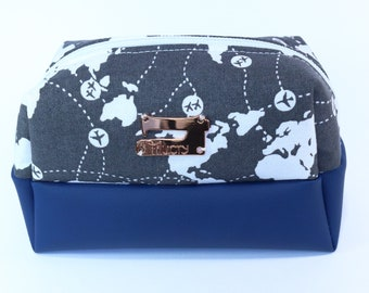 Worldmap pouch etsy filucry small bag airplanes cosmetic bag with planes travel worldmap aviation bag travelpouch wanderlust aviationlovers pouch gumiabroncs Images