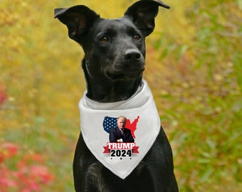 Small and Large Sizes Custom Handmade KEEP IT GREAT TRUMP 2020 Dog Bandana Tie-on Style MAGA Pet Scarf for Trump Supporters Made in USA