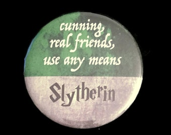 Magnet Slytherin Harry Potter Hogwarts House Motto Traits Cunning Real Friends Use Any Means!