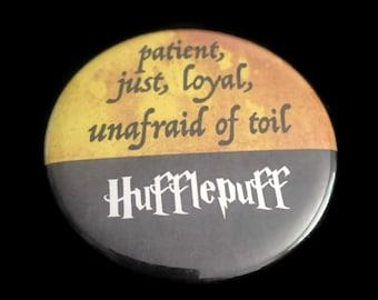 Magnet Hufflepuff Harry Potter Hogwarts House Motto Traits Just Loyal Unafraid!