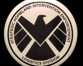 Button Agents of S.H.I.E.L.D. SHIELD Logo Agent Coulson Marvel Captain America!