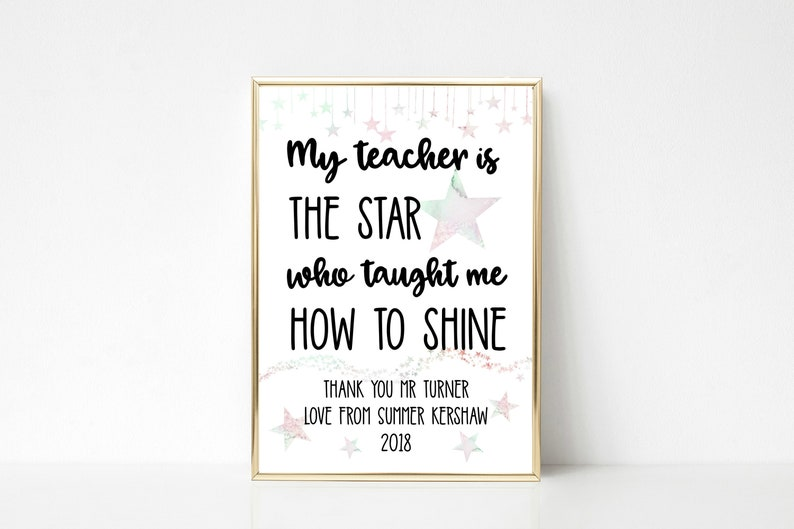 Personalised My Teacher Is The Star Who Taught Me How To Shine image 0