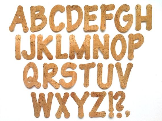 Set Adesivo Adesivo Alfabeto Lettere Maiuscole Diversi Taglia e Colore