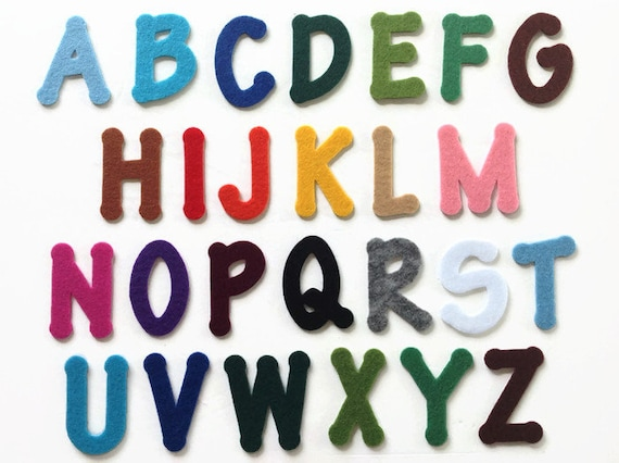 Adhesive Backed Felt Letters, Peel and Stick Die Cut Alphabet, 2 Inch  Sticky A to Z Capital Letters for Crafting & Educational Activities