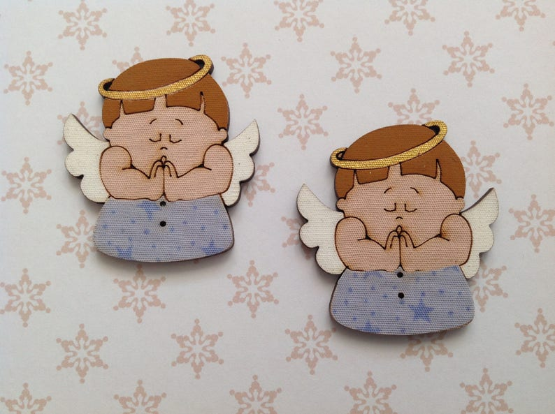 0fe9952a8ef Botones de Ángel grandes botones de madera decoración de la