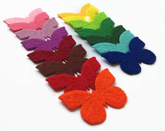 Felt Butterflies, Cute Felt Die Cuts, Butterfly Applique for Sewing and Craft Projects in Vibrant Colors