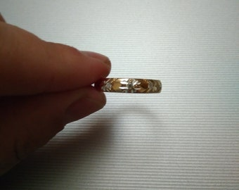 Pendant Gold 585 Plate Circle Nugget ca 15 mm