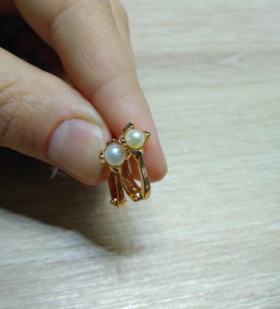 Silver 925  Gold 999 Earrings Cubic Zirconia Russian Silver Earrings  Jewelry Soviet Earrings Mother gift Wife Woman Earrinngs Stones