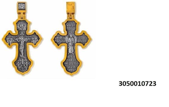 Orthodox Necklace. Reliquary Amulet Pendant Gift Religious Orthodox Silver 925 Cross Crucifixion Pendant Jesus Christ