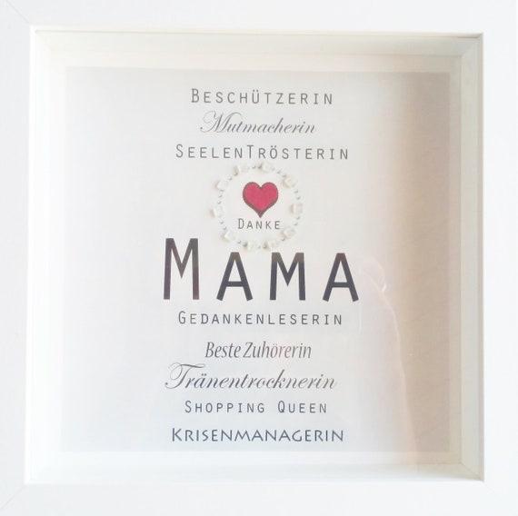 weihnachtsgeschenk mama beste mama danke mama etsy. Black Bedroom Furniture Sets. Home Design Ideas